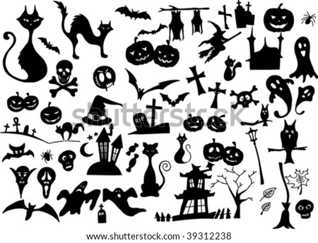 Halloween Silhouettes - Download Free Vector Art, Stock Graphics ...