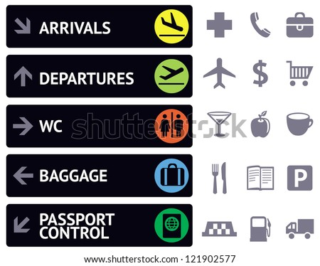 vector collection of icons and