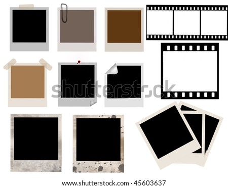 vector collection of isolated instant photo frames and film strip - more availabe
