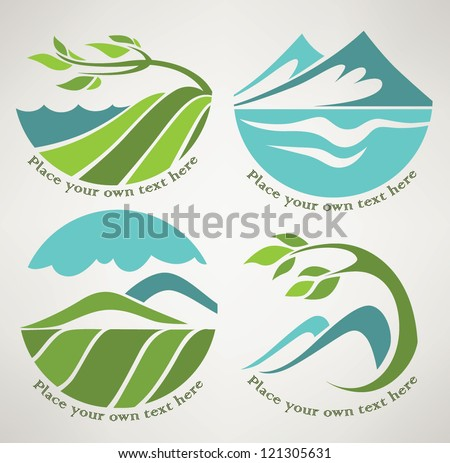 vector collection of landscape