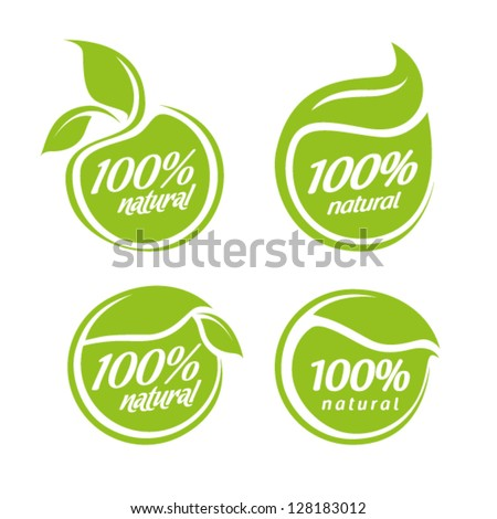 vector collection of leaf frames, natural icon, labels and stickers