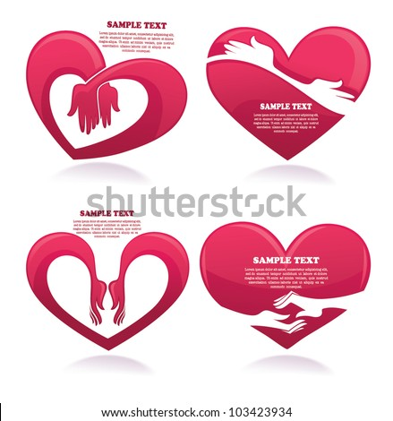 vector collection of love concept stickers, labels and forms