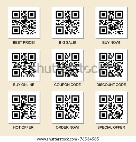 Vector collection of marketing related qr codes for your design.