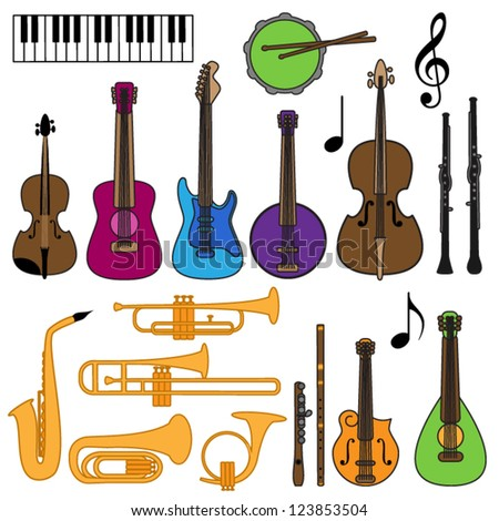 Vector Collection of Musical Instruments