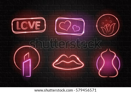 vector collection of neon