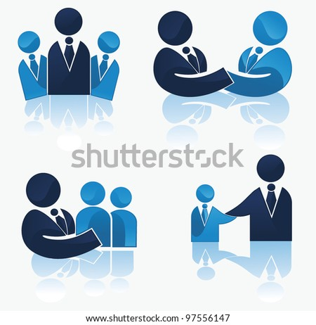 vector collection of office workers and business team