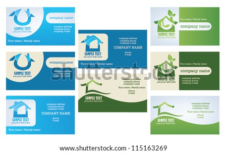 Business card real estate download free vector art stock graphics vector collection of property and real estate business cards reheart Image collections