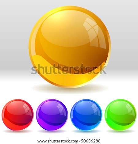 Vector collection of realistic glossy balls. EPS10 file.