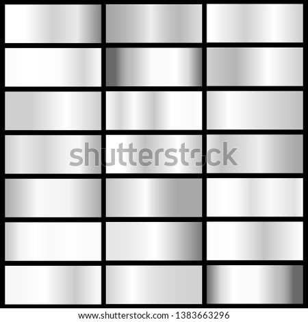 vector collection of silver metall gradients