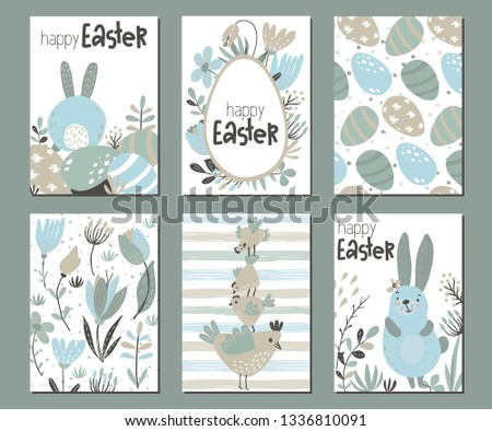 vector collection of six easter
