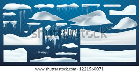 vector collection of snow caps