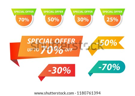Vector collection of special offer tag for webpage and advertising