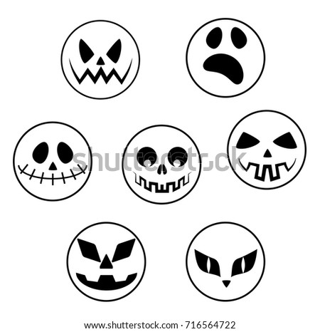 Vector Collection Of Spooky Halloween Ghost Pumpkin Demon