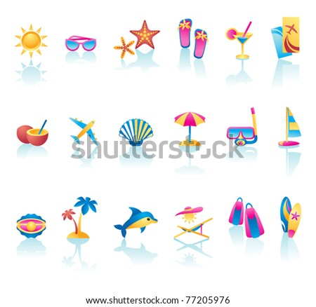 Vector collection of summer time icons