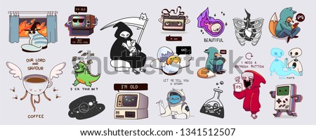 Vector collection of varied stickers or badges
