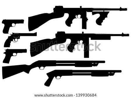 vector collection of weapon
