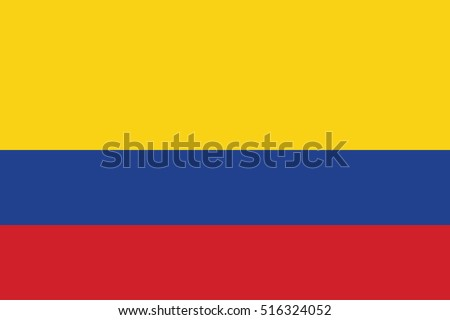 Vector Colombia flag, Colombia flag illustration, Colombia flag picture, Colombia flag  Stock photo ©