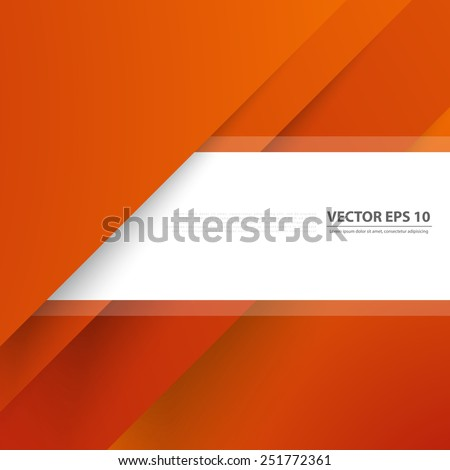 Vector color background abstract lines. Orange design geometrical