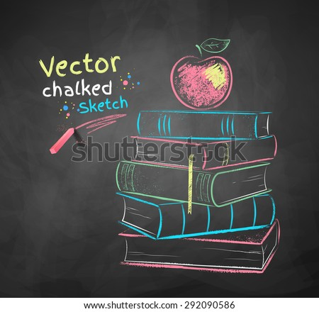 vector color chalk drawing of