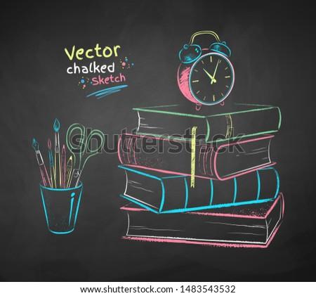 vector color chalk drawn