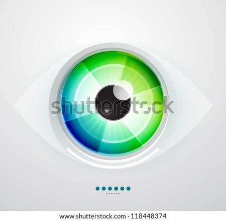 vector color eye design hi