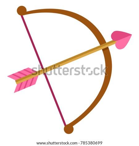 vector color flat cupid bow