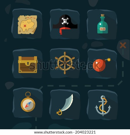 vector color flat  icons set
