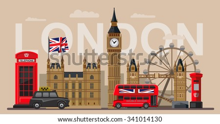 vector color great britain and