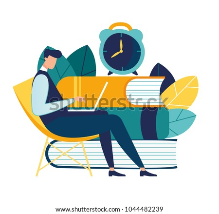 vector color illustration, distance learning, online courses and business, education, online books and textbooks, exam preparation, home schooling