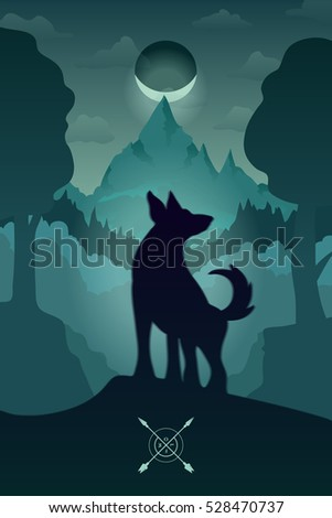 vector color illustration of a