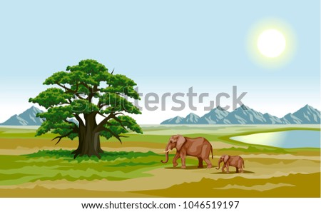 vector color illustration of