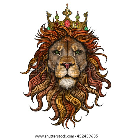 vector color king lion