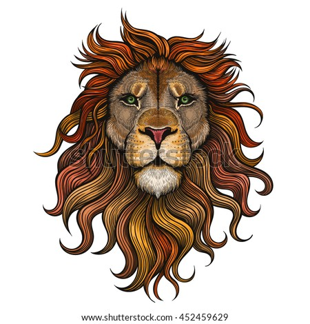 Vector Color Lion Illustration