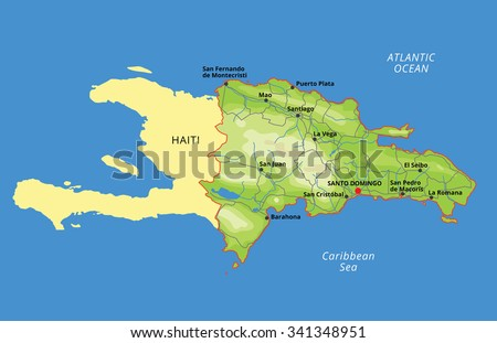 Free Vector Map Of Dominican Republic Free Vector Art At Vecteezy - A map of dominican republic