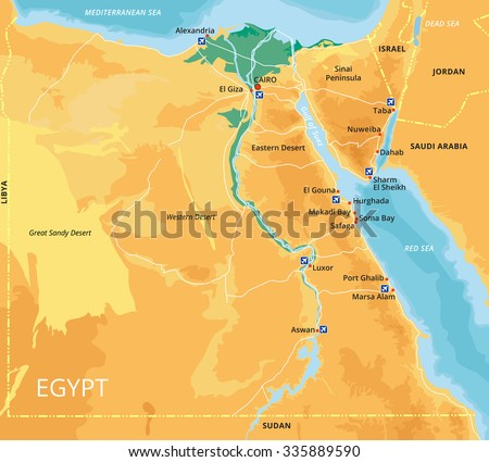 Egypt Elements Download Free Vector Art Stock Graphics Images - Map of egypt vector
