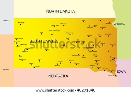 map of south dakota rivers. maps of south dakota. map of