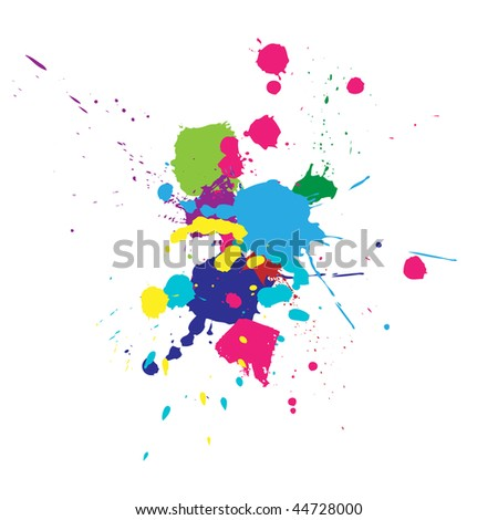 Vector color paint splashes background