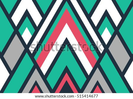 Vector color pattern. Geometric abstract background. Modern stylish texture.
