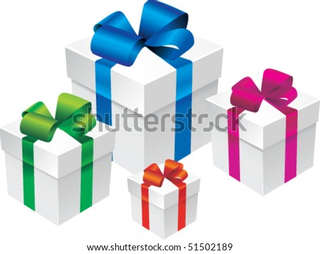 Vector color set gift box