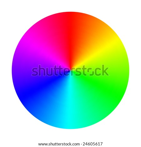 Vector Color Spectrum Wheel - stock vector
