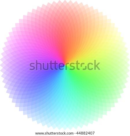 Vector color wheel.