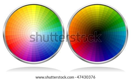 Vector Color Wheels with 864 patterns. See my portfolio for more color wheels.