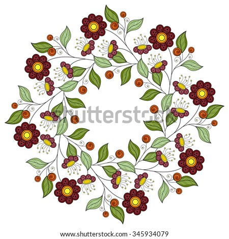 vector colored floral