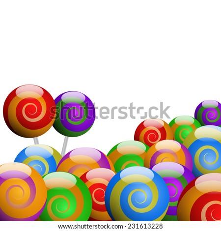 vector colored lollipop