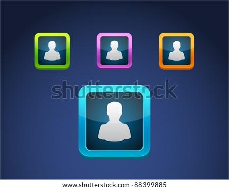 Vector colored person icon set.