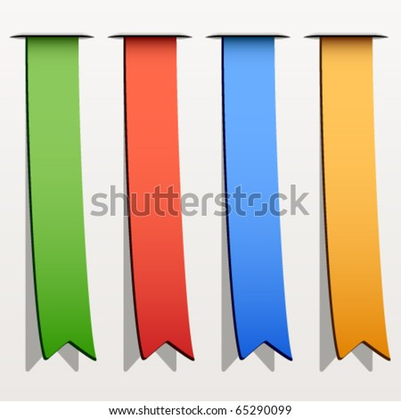 vector colored ribbon stripes