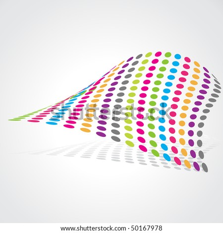 vector colorful abstract artistic design - stock vector