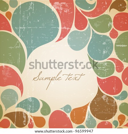 Vector Colorful abstract retro background with place for your text