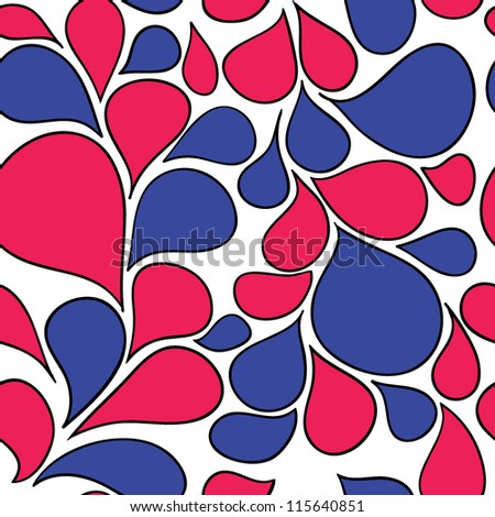 Vector Colorful abstract retro pattern made from various spatters - stock vector