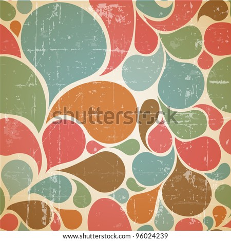 Vector Colorful abstract retro  pattern made from various spatters